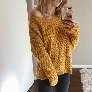 Mustard Comfy Knit Sweater